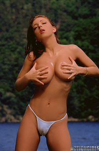 Ashley Robbins Massaging Her Huge Tits