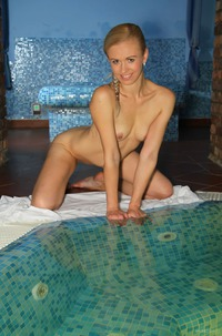 Wet Skinny Teen Edith B In Jacuzzi
