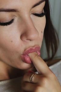 Hot Brunette Eos Tasting Pussy