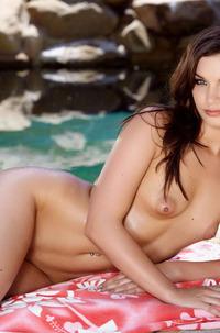 Amber Addison In Yellow Bikini