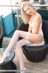 Blond Angel Toyra In Stockings