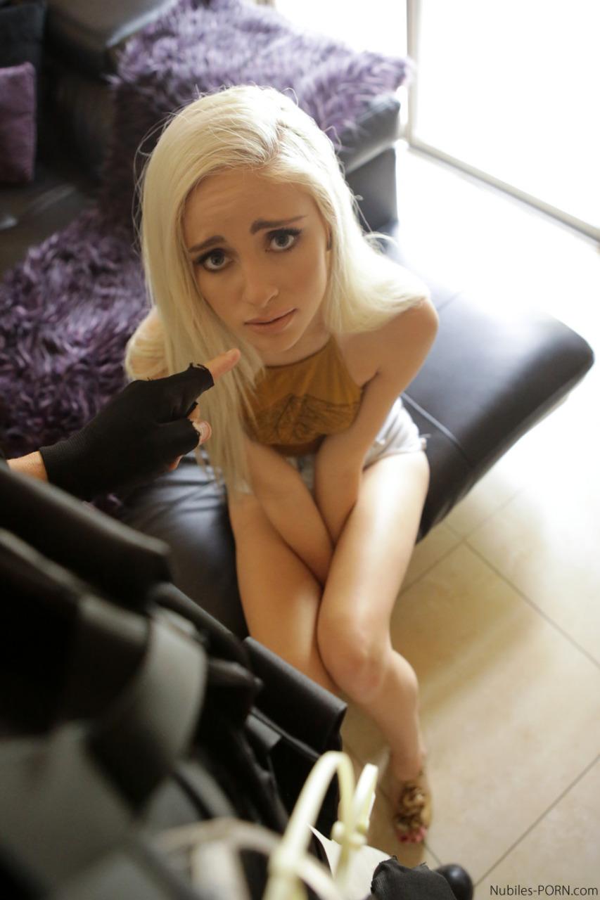 Blond cutie violetta pink masturbates then fucks a black cock 8