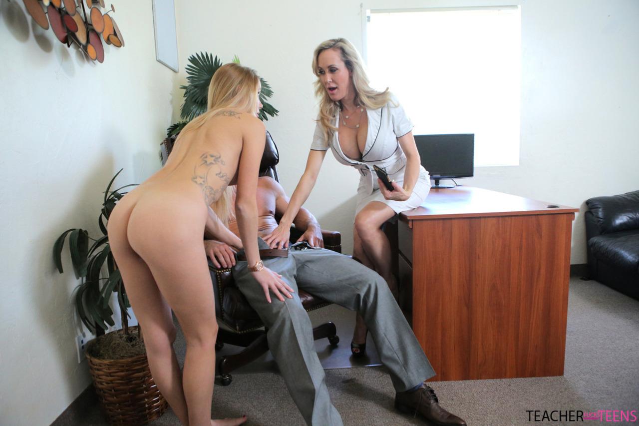 Brandi Love Is A Horny Secretary - Horny Office Sluts Brandi Love & Hollie Mack