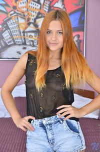 Striptease From Redhead Teen Sam Brook