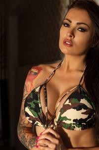 Charley Stripping Camouflage Bikini