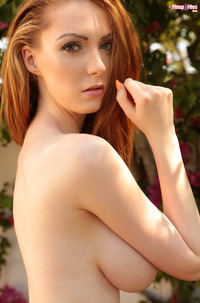Redhead Alice Brookes With Melons