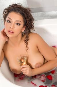 Busty Kelsi Shay Taking Bath
