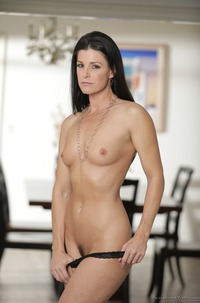 India Summer Showing Trimmed Pussy