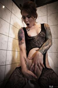 Horny Slut Foxy Sanie Stripping In Toilet