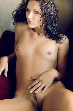 Curly brunette Andrea