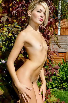 Lilya Naked In The Garden