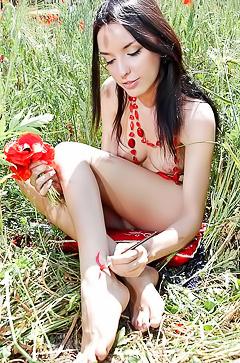 Amateur brunette Nika