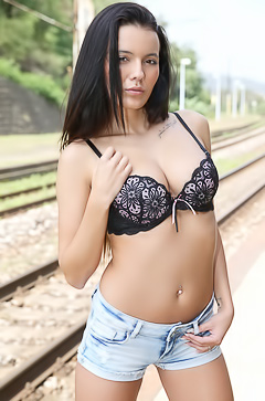 Vanessa Decker - Railroad Striptease