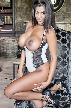 Sophia Lares showing black nipples