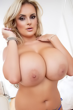 Katie Thornton Flashing Her Massive Tits