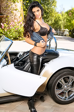 Autumn Lynn Posing In Sport Convertible