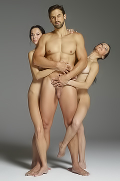 Miniature twins and strong man