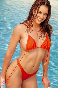 Goddess bikini model Victoria Red