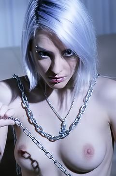 Kira - sexy blonde in chains