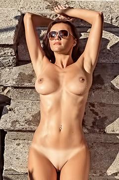 Manja Dobrilovic is taking sunbath