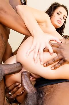 Keisha Grey and four big back dicks