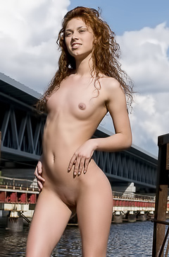 Talia A is stripping in public