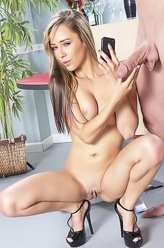 Sex with hot Ella Milano