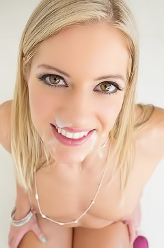 Slutty blond Candice Dare loves pov