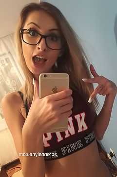Glamour girlfriend in glasses
