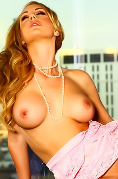 Irresistible babe Brett Rossi with dildo