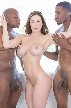 Kendra Lust and two black dicks
