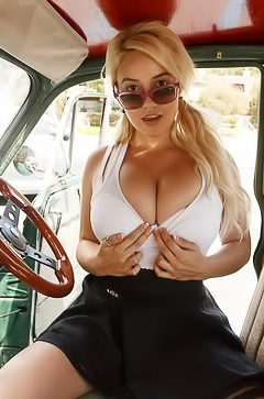Kylie Page shwos boobs in public
