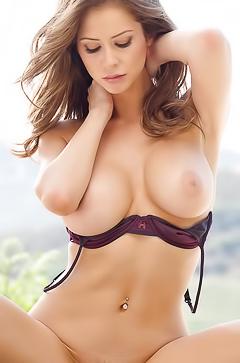 Busty babe Emily Addison