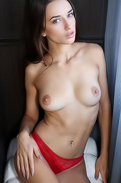 Incredibly hot brunette