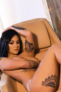 Mica Martinez - naked on the chair