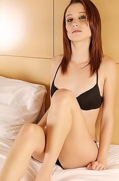Hayden Ryan is relaxing in her bed