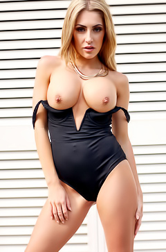 Sexy Ashley Emma and her silicone tits