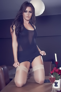 Kat Dee in sexy stockings