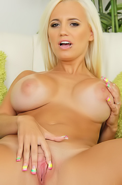 Jacky Joy - boobed and curvy blonde