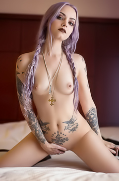 Tattoos on Genevieve Gandi