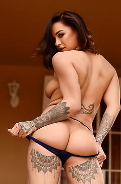 Mica Martinez - tattoos on butt