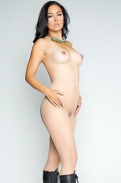 Dana Vespoli - naked in black boots