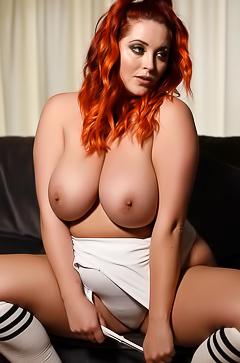 Lucy Vixen - hot boobed redhead babe