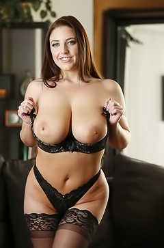 Angela White is showing her sexy curves