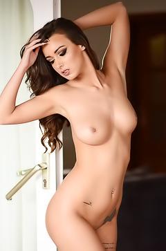Tasty brunette model Laure Louise