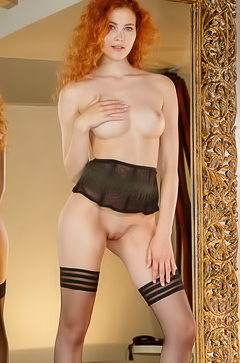 Adel C - redhead babe in stockings