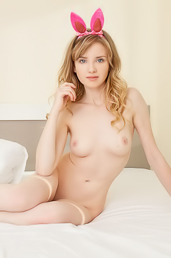 Naked young bunny Monica