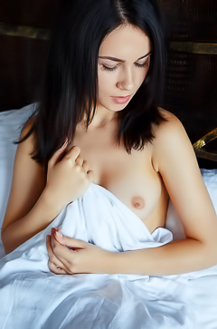 Alla S - gentle sexy brunette in the bed