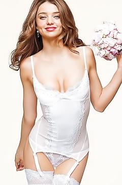 Sexy bride Miranda Kerr