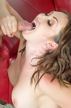 Horny Yasmin swallowing sperm